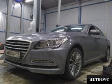 Hyundai Genesis установили проставки по кругу