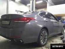 Hyundai Genesis установили проставки вид сзади