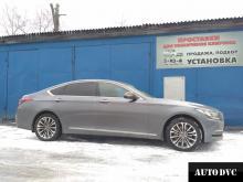 Установка проставок для увеличения клиренса Hyundai Genesis