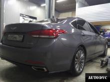 Hyundai Genesis общий вид до установки проставок