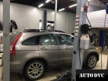 Общий вид Honda CR-V III до установки проставок