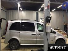 Общий вид Mercedes-Benz Vaneo после установки проставок