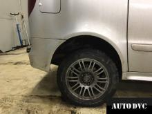 Задняя часть Mercedes-Benz Vaneo после установки проставок