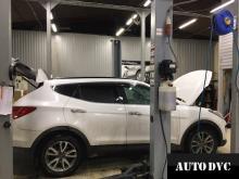 Общий вид Hyundai Santa Fe III до установки проставок