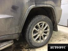 Задняя часть Jeep Grand Cherokee после установки проставок