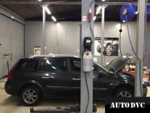 Общий вид Renault Megane II до установки проставок