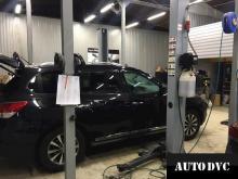Общий вид Toyota Highlander III до установки проставок