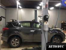 Общий вид Toyota RAV 4 IV до установки проставок
